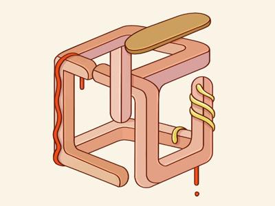 Hotdog  cool texture vector fun hotdog