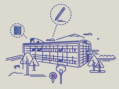 Institut  college information infographic illustration graphics design visualization data arquitecture