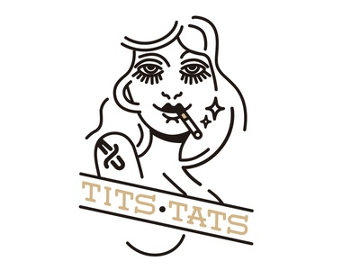 Tits girl art vector tattoo