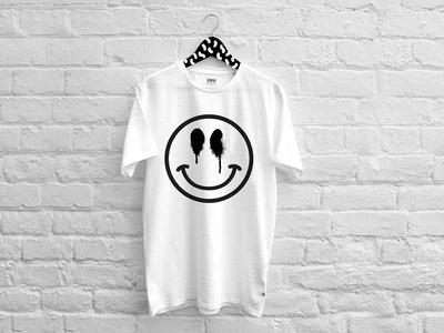 Smile tshirt art vector graffiti smile