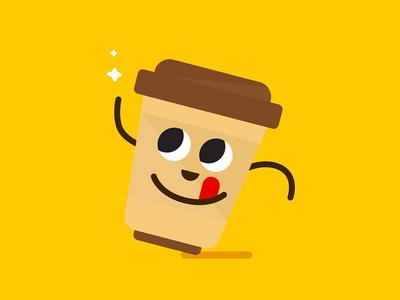 coffee fun cofee art vector concept logo