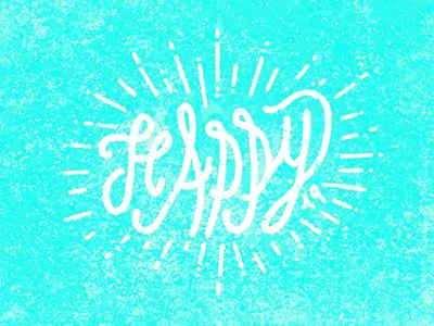 Happy logo typogaphy vector