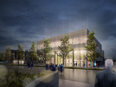 Research center in Nancy architecture archiviz cgartist architectural visualisation 3d