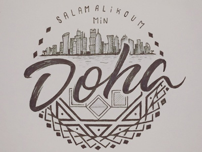 Doha lettering type handlettering typography calligraphy handmade doha lettering