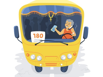 Kyiv shuttle taxi водитель kyiv киев маршрутка shuttle taxi vector illustration
