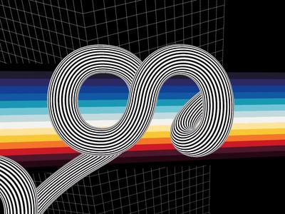 თ - 33 Animated Georgian Types pink floyd video design თ t type 33agt illustration chromadynamic aluminum ultradinamic chrome glitch visual art motiongraphics grid cube