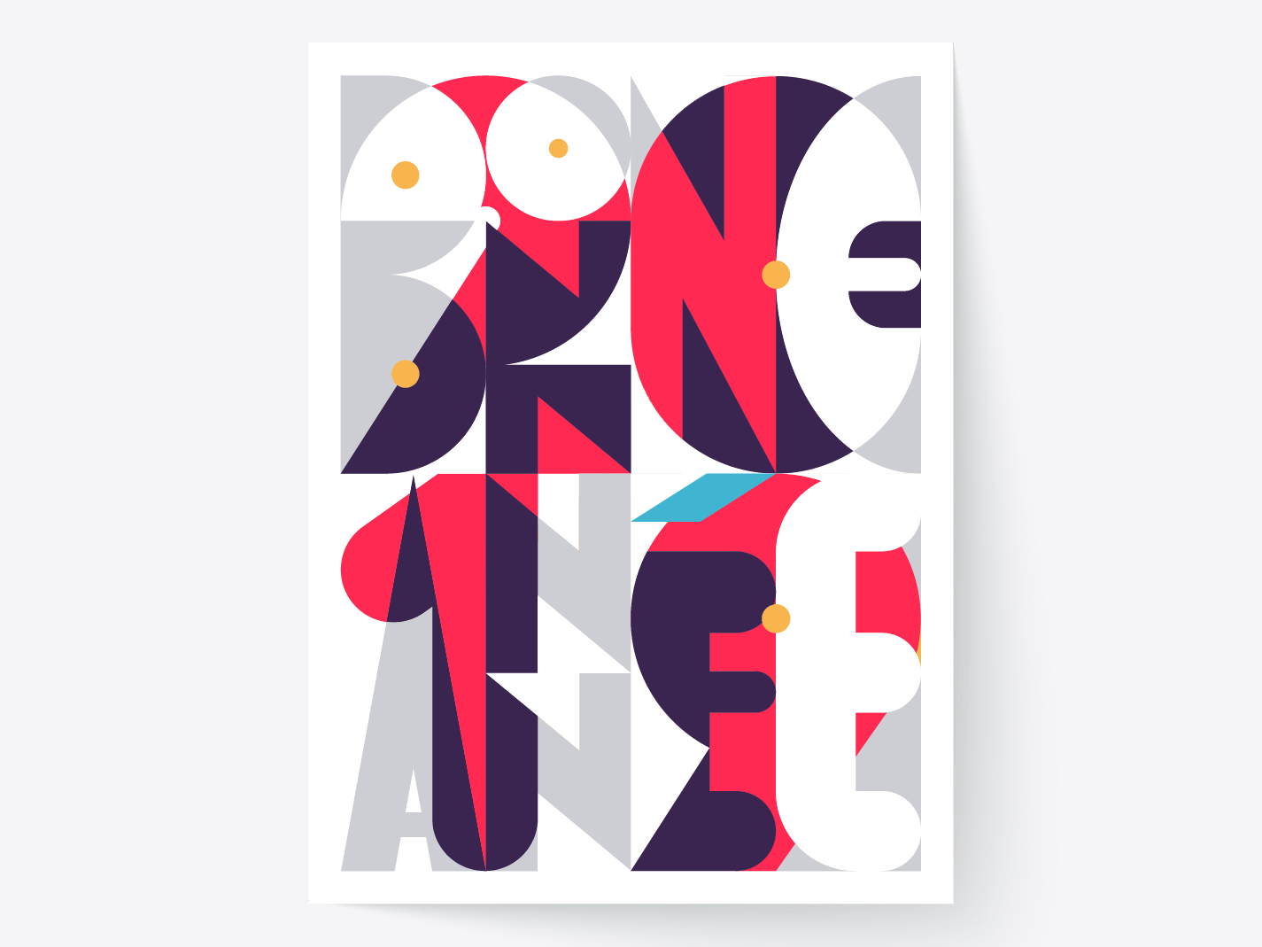 Bonne Année lettering artist typographie geometric french poster collection poster font design graphic  design poster design typo letter typography