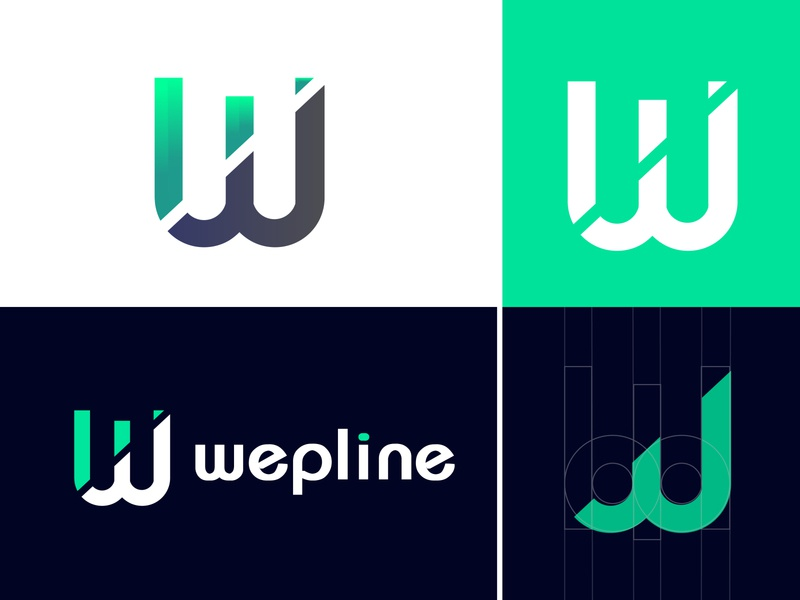 wepline logo and brand designs