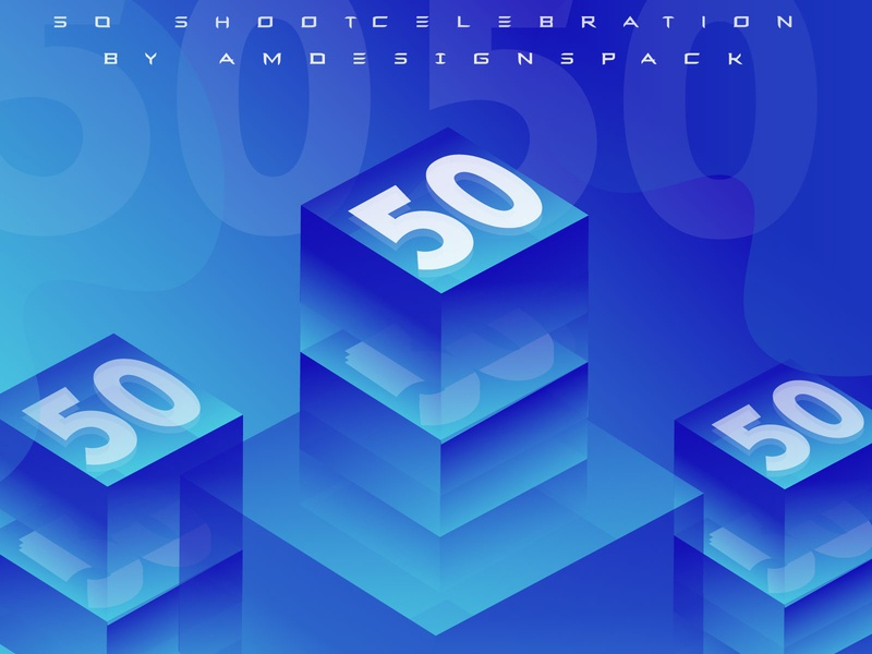 50 Shoot Celebration in Dribbble By amdesignspack