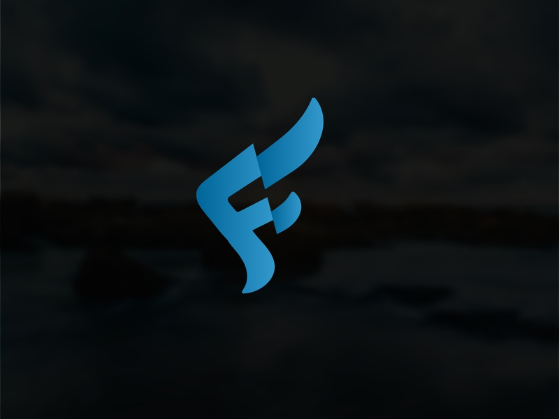 F latter with Flow style logo mark