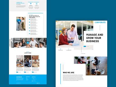 Corporate Website Concept corporate identity corporate brand design website brandingagency web ux ui