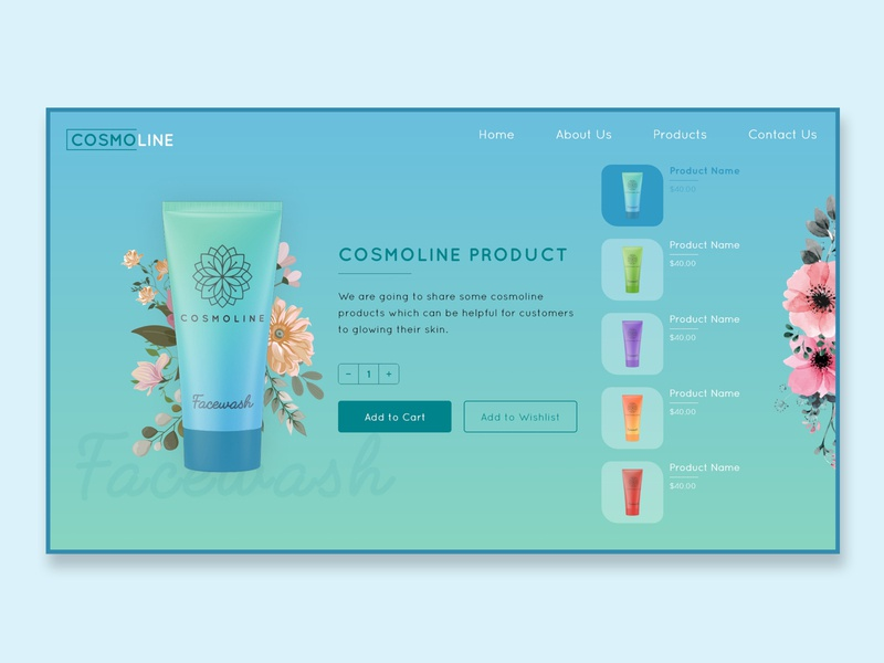 Cometic Product UI Design product design ecommerce design design cosmetic appuidesign website interaction design uxdesign products web brandingagency ux ui