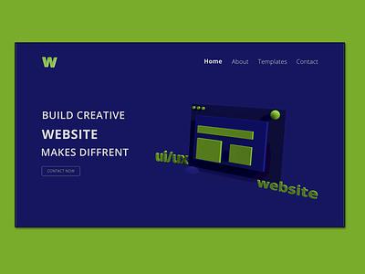 Minimalist Website UI/UX Design Concept 3ddesign webdesign interactive design uiuxdesign interaction design design appdesign website uxdesign web brandingagency ux ui minimalist