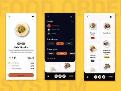 Food Order Taking Mobile App UI UX Design development mobileapp graphic design app mobile web interaction design uxdesign website brandingagency ux ui
