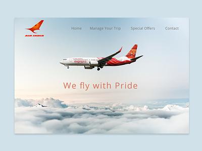 Air India Web UI/Ux Design Case Study interaction design brand identity animation brand design website web ux ui products branding