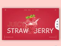 Fruit Juice Web UI Landing Page concept