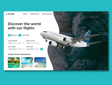 UI Design concept of FLIGHT & TRAVEL BOOKING