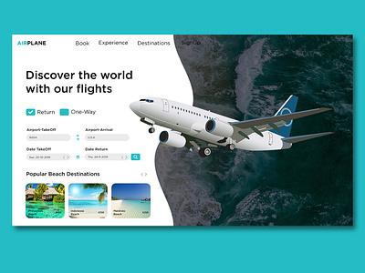 UI Design concept of FLIGHT & TRAVEL BOOKING interaction design brand design brandingagency design uxdesign branding website web ux ui