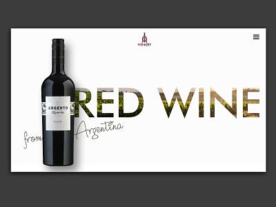 Wine Website concept with Product Branding appdesign uxdesign brandingagency interaction design brand design website web products ux ui