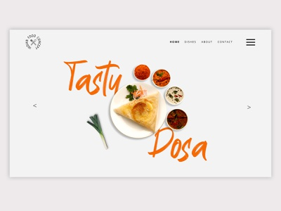 Indian Food Dish Landing Page Web UI Design branding uxdesign website brandingagency interaction design brand design products web ux ui