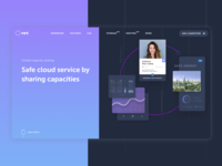 Landing page for a startup