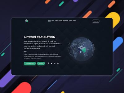Crypto landing page concept web front end design front end dev web ui ui