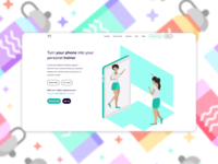 Landing page for workout app
