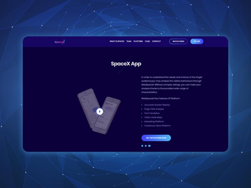 Landing page for mobile app web development landing page concept concept developer desiger