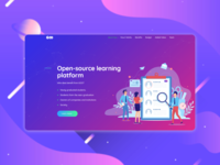 Landing page for a learning platform