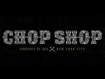 Chop Shop typography branding tools chop shop screws bolts