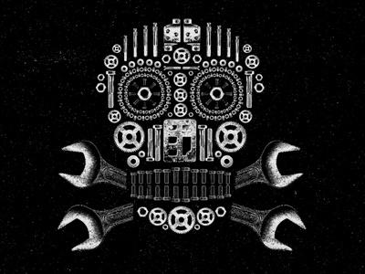 Chopshop Skull branding tools skull chop shop