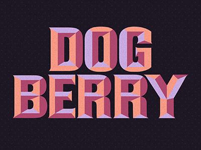 Dog Berry type typeface display deco