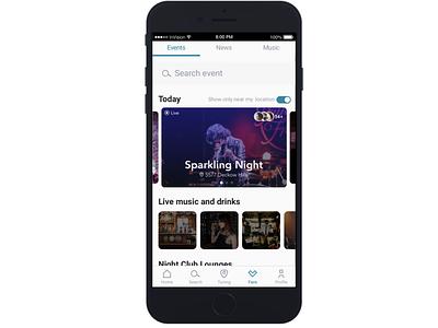Tono App (Work in progress) dating events music mobile ui mobile design mobile app mobile ui ux