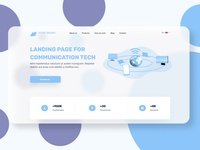 Telecom Landing Page network telecommunication wifi mobile internet tech telecom ui ux