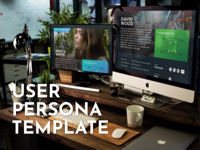 User persona user experience personality userinterface boy girl digital template persona user ux