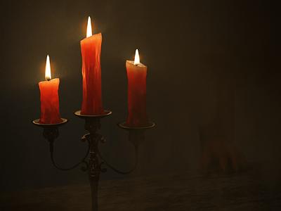 Truth Is Like Wax wax fog candelier candle dark devil demon dracula surrealism 3d