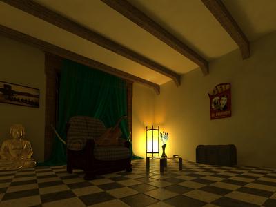 Bohemian Room poster buda night light guitar 3d room bohemian
