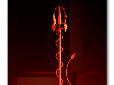 The Devil inferno trident tail hell demon devil card tarot