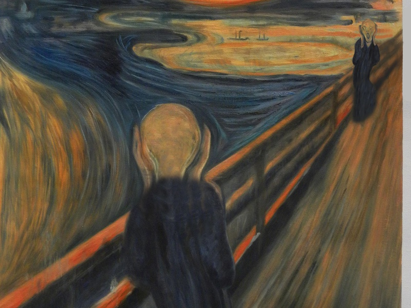 The Truth About The Scream cuadro pintura grito edvard munch paint photoshop scream