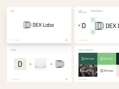 DEX Labs Branding marks logotype brandbook labs fiat decentralized defi light clean tunnel cryptocurrency crypto design branding properlystudio rly madewithproperly brand logo
