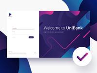Bank login panel