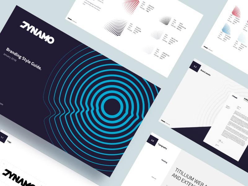 DYNAMO - Brandbook purple styleguide circle blue brand color branding brandbook dynamo