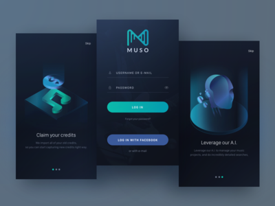 Onboarding signup login thisisnotspotify onboarding illustration ai ux ui dark music app