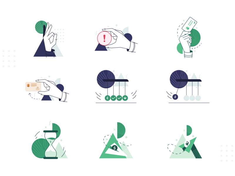 Ramp Instant Illustrations minimal warning card peer to peer cryptocurrency design app illustration digital fintech instant ramp linear finance blockchain illustrations