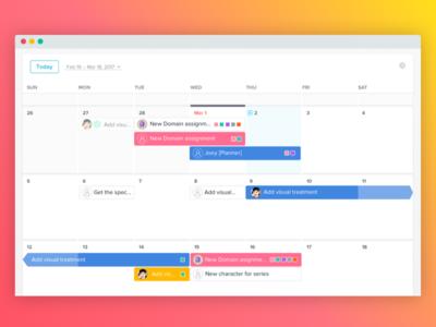Start Dates on Calendar asana start due dates schedule task product project ui ux calendar