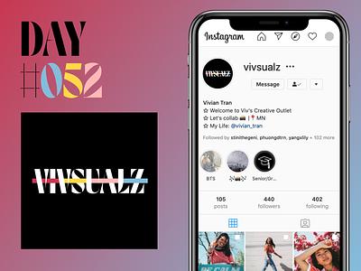 Daily UI Challenge Day 52: Logo typography photographer instagram logo icon illustration branding minimal dailyuichallenge ui dailyui design
