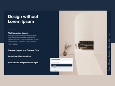 Feature Section — Bondlayer Design pastel desktop bondlayer product design page sections representation component design components component features minimalistic minimalism minimalist blue beige design section minimal