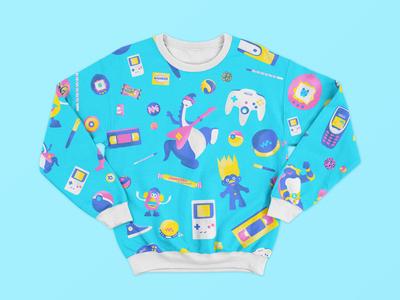 Swearshirt pattern années 90