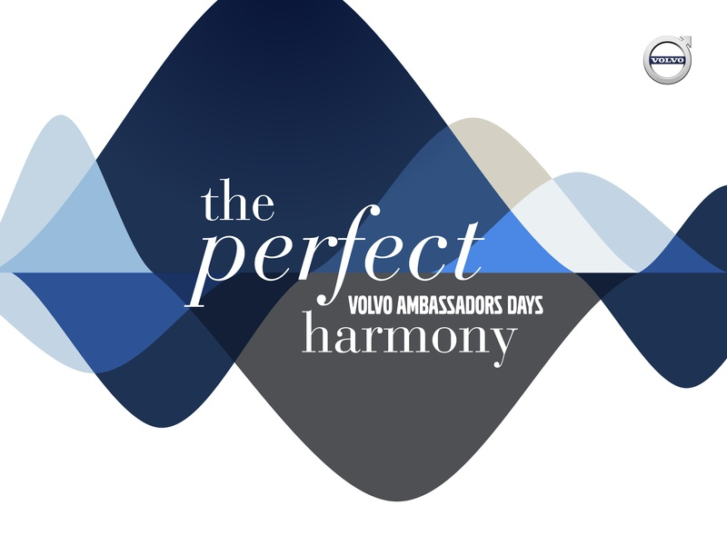 Volvo - Perfect harmony identity logo perfect formation event typography design graphic brand and identity ondulation creative project creative graphic  design son music equalizer harmony branding brand art