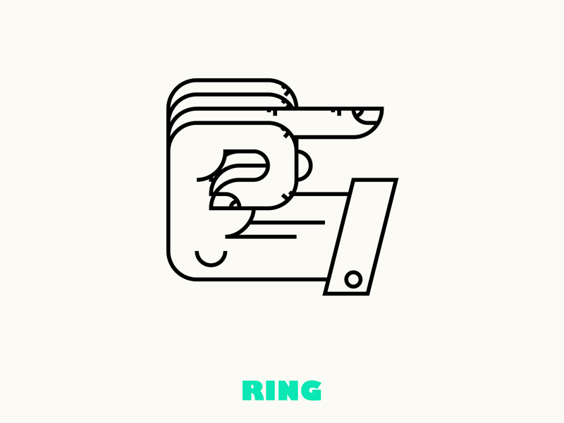Manicules Pt.IV glyph glyphs typography pointer ring illustration graphic art graphicdesign manicules